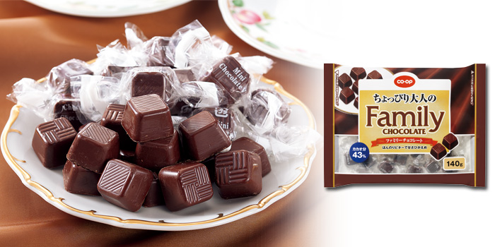 CO・OP ちょっぴり大人のファミリーチョコレート  140g